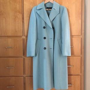 Zara blue wool coat XS